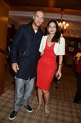 CALUM BEST and YASMIN MILLS at the Blue Monday Cheese Launch presented by Alex James and held at The Cadogan Hotel, Sloane street, London on 11th June 2013.