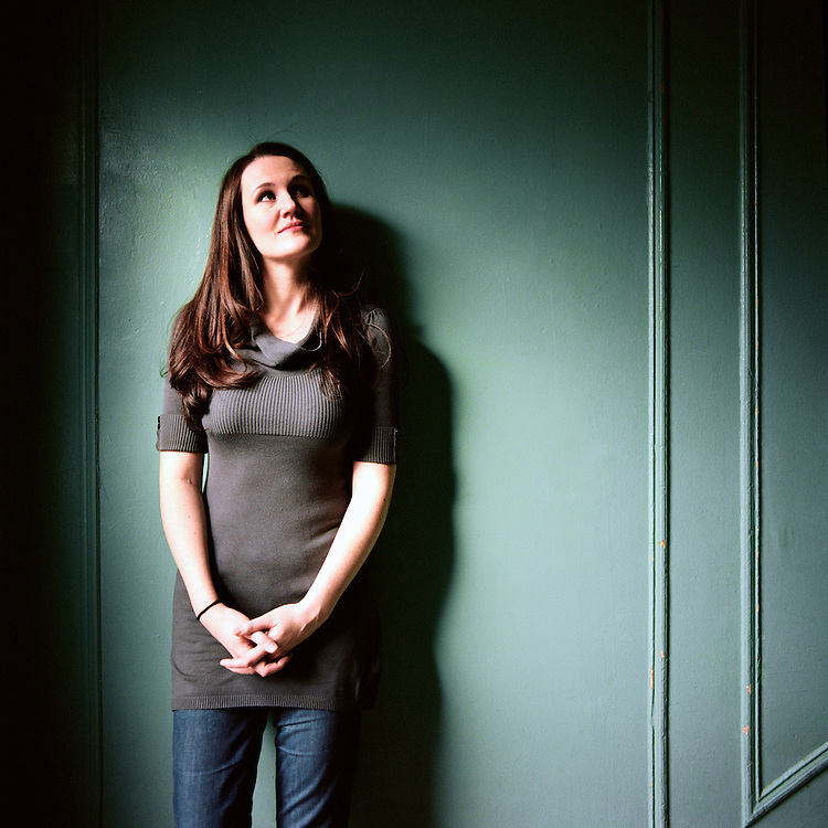 NEW YORK, NEW YORK - 2010: Author of Breaking Night, Liz Murray in her home for Grazia.