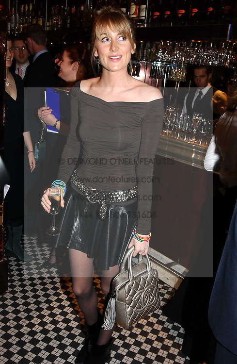 LADY EMILY COMPTON at a fund raising dinner hosted by Marco Pierre White and Frankie Dettori's in aid of Conservative Party's General Election Campaign Fund held at Frankie's No.3 Yeoman's Row,&aelig;London SW3 on 17th January 2005.<br />