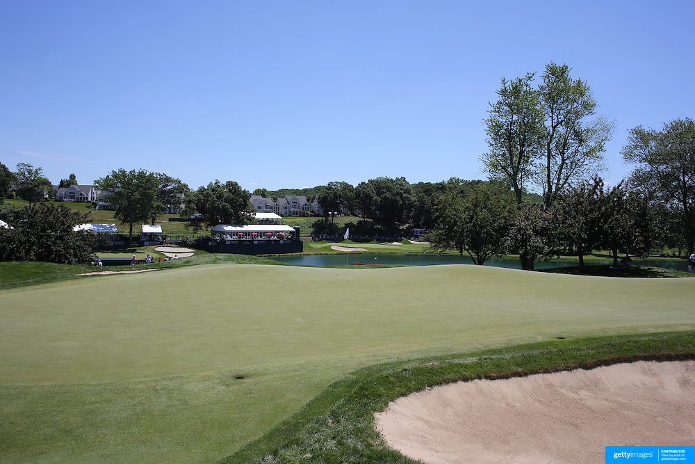 A general view of the golf course during the third round of the Travelers Championship at the TPC River Highlands, Cromwell, Connecticut, USA. 21st June 2014. Photo Tim Clayton