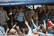 FODBOLD: FC Helsingør's oprykning til ALKA Superligaen fejres på Kulturværftet i Helsingør den 5. juni 2017. Foto: Claus Birch