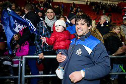 Gaston Cortes of Bristol Rugby celebrates after Bristol Rugby win 28-20 - Rogan Thomson/JMP - 26/12/2016 - RUGBY UNION - Ashton Gate Stadium - Bristol, England - Bristol Rugby v Worcester Warriors - Aviva Premiership Boxing Day Clash.