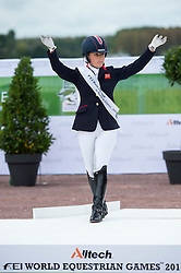Sophie Wells and Valerus silver in the individual test grade IV - Individual Test Grade IV Para Dressage - Alltech FEI World Equestrian Games™ 2014 - Normandy, France.<br /> © Hippo Foto Team - Jon Stroud <br /> 25/06/14