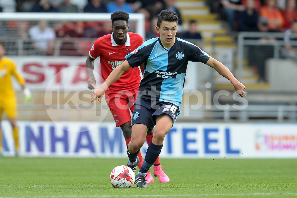 Luke O'Nien of Wycombe Wanderers  during the Sky Bet League 2 match between Leyton Orient and Wycombe Wanderers at the Matchroom Stadium, London, England on 19 September 2015. Photo by Salvio Calabrese.