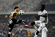 STOCKHOLM, SWEDEN - MARCH 12: Rasmus Lindgren of BK Hacken and Tinotenda Kadewere of Djurgardens IF during the Swedish Cup Quarterfinal between Djurgardens IF and BK Hacken at Tele2 Arena on March 12, 2018 in Stockholm, Sweden. Photo by Nils Petter Nilsson/Ombrello<br /> ***BETALBILD***