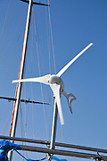 Wind turbine on yacht