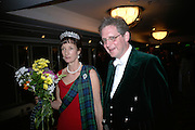 Iona, Duchess of Argyll and Viscount Dupplin, The Royal Caledonian Ball 2007. Grosvenor House. 4 May 2007.  -DO NOT ARCHIVE-© Copyright Photograph by Dafydd Jones. 248 Clapham Rd. London SW9 0PZ. Tel 0207 820 0771. www.dafjones.com.