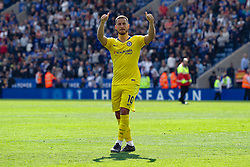 May 12, 2019 - Leicester, England, United Kingdom - Eden Hazard of Chelsea saying farewell to the Chelsea away fans during the Premier League match between Leicester City and Chelsea at the King Power Stadium, Leicester on Sunday 12th May 2019. (Credit Image: © Mi News/NurPhoto via ZUMA Press)