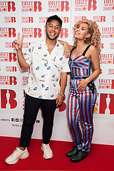 EDITORIAL USE ONLY XXXX Jax Jones and Raye attending the Brit Awards 2018 Nominations event held at ITV Studios on Southbank, London. Photo credit should read: David Jensen/EMPICS Entertainment