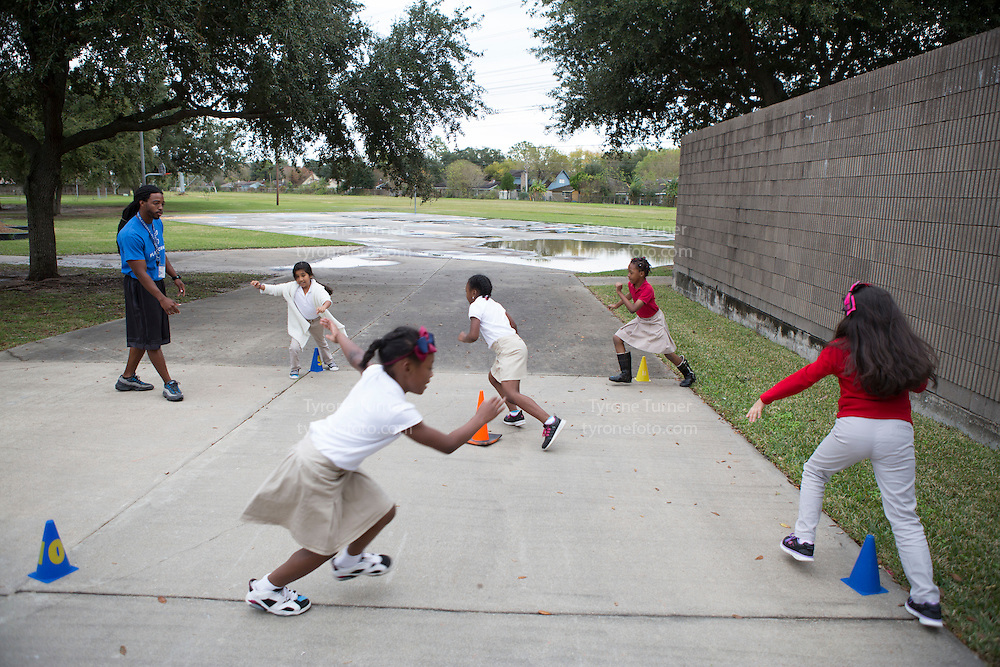 Playworks<br /> <br /> <br /> Cummings Elementary School<br /> 10455 S Kirkwood Rd, Houston, TX 77099<br /> <br /> <br /> Teacher is Ms. Yorke, 2nd grade  class game time<br /> <br /> All pics are released for RWJF