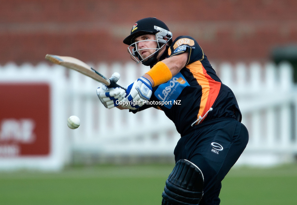 Michael Papps of Wellington bats during the Ford Trophy One Day cricket match between the Wellington Firebirds and Central Districts at the Basin Reserve in Wellington on Sunday the 23rd March 2014.  Photo by Marty Melville/Photosport.co.nz