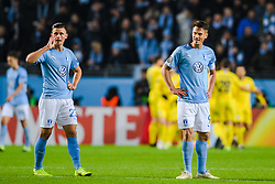 February 14, 2019 - MalmÅ, Sweden - 190214 Marcus Antonsson and Markus Rosenberg of MalmÅ¡ FF looks dejected after 0-2 during the Europa league match between MalmÅ¡ FF and Chelsea on February 14, 2019 in MalmÅ¡..Photo: Petter Arvidson / BILDBYRN / kod PA / 92225 (Credit Image: © Petter Arvidson/Bildbyran via ZUMA Press)
