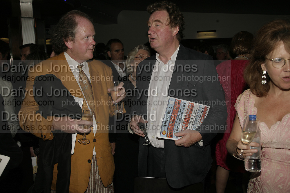 CRAIG BROWN  AND CHRISTOPHER SIMON SYKES, The John Betjeman Variety Show, sponsored by Shell, in aid of Sane. In the Presnece of the Prince of Wales and the Duchess of Cornwall. Prince of Wales theatre. London. 10 September 2006. ONE TIME USE ONLY - DO NOT ARCHIVE  © Copyright Photograph by Dafydd Jones 66 Stockwell Park Rd. London SW9 0DA Tel 020 7733 0108 www.dafjones.com