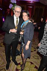 "LEVI TECOFSKY and ALEX WESTON at the presentation of Le Prix Champagne De La Joie de Vivre to Stephen Webster in celebration of his long standing contribution to ""Joie de Vivre' held at the Council Room, One Great George Street, London on 22nd April 2015."