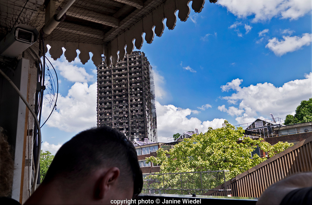 The 24-story Grenfell Tower in North Kensington, London destroyed by fire on 14th June 2017.  The death toll officially at 75 but will no doubt rise to three figures.
