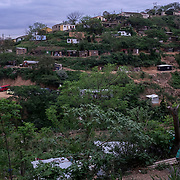 A view of the township of Lamontville in Durban, South Africa. In South Africa HIV-prevalence in informal settlements is twice that of formal housing settlements, and IPV-incidence (Intimate Partner Violence) among young people (18–30) is between 3 and 5 times national estimates. 09 November 2017. Lamontville, Durban, South Africa. © Miora Rajaonary / Wall Street Journal.