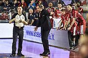 DESCRIZIONE : Campionato 2014/15 Virtus Acea Roma - Giorgio Tesi Group Pistoia<br /> GIOCATORE : Paolo Moretti Emanuele Aronne<br /> CATEGORIA : Allenatore Coach Proteste Fair Play<br /> SQUADRA : Giorgio Tesi Group Pistoia<br /> EVENTO : LegaBasket Serie A Beko 2014/2015<br /> GARA : Dinamo Banco di Sardegna Sassari - Giorgio Tesi Group Pistoia<br /> DATA : 22/03/2015<br /> SPORT : Pallacanestro <br /> AUTORE : Agenzia Ciamillo-Castoria/GiulioCiamillo<br /> Predefinita :