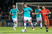 Forest Green Rovers Dayle Grubb(8) runs forward during the 2nd round of the Carabao EFL Cup match between Wycombe Wanderers and Forest Green Rovers at Adams Park, High Wycombe, England on 28 August 2018.
