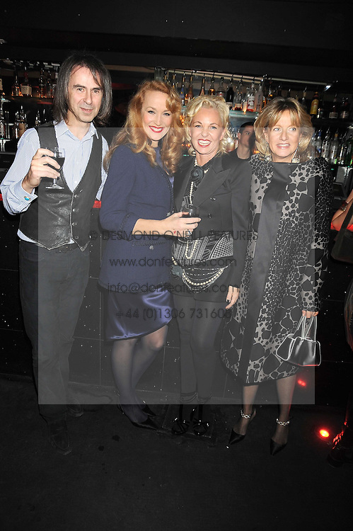 Left to right, IVOR BRAKA, JERRY HALL, AMANDA ELIASCH and PRINCESS CHANTAL OF HANOVER at a party to celebrate the publication of Cloak & Dagger Butterfly by Amanda Eliasch held at the Soho Revue Bar, London on 17th November 2008.