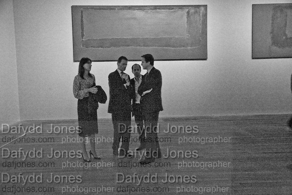SAMANTHA CAMERON;  SIR NICHOLAS SEROTA; CURATOR: ACHIM BORCHARDT-HUME; DAVID CAMERON; Mark Rothko private view. Tate Modern. 24 September 2008 *** Local Caption *** -DO NOT ARCHIVE-© Copyright Photograph by Dafydd Jones. 248 Clapham Rd. London SW9 0PZ. Tel 0207 820 0771. www.dafjones.com.