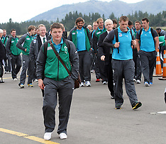 Taupo-Rugby, RWC, Ireland arrive in Taupo