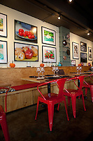The dining room of Mad Tomato, an Italian restaurant in Clayton, St. Louis, MO.