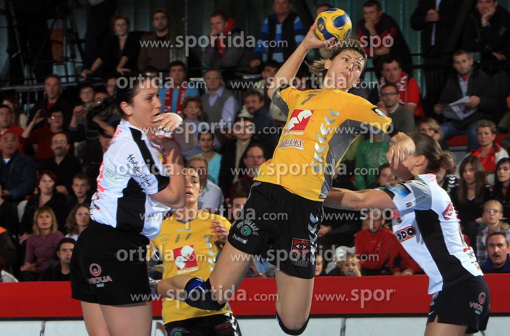 Maryna Vergelyuk (7) at handball match of 2nd Round of EHF Women`s Championsleague between RK Krim Mercator (SLO) and Metz Handball (FRA), in Arena Kodeljevo, Ljubljana, Slovenia, on November 9, 2008. Metz  won match against RK Krim Mercator with 31:26.
