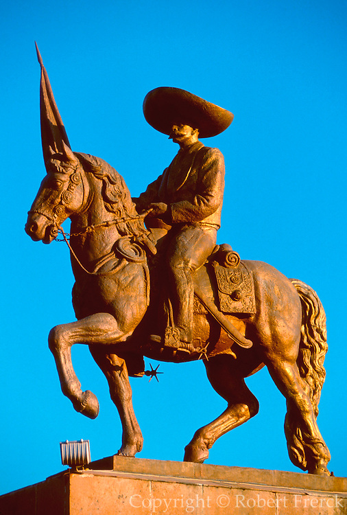 MEXICO, HISTORIC PERSONALITIES Emiliano Zapata, peasant leader in the Revolution of 1910-1919, statue in Nueva Italia near Uruapan, Morelia