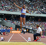 GBR long jumper Shara Proctor during the Sainsbury's Anniversary Games at the Queen Elizabeth II Olympic Park, London, United Kingdom on 25 July 2015. Photo by Mark Davies.