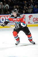 KELOWNA, CANADA, OCTOBER 26:  Colton Sissons #15 of the Kelowna Rockets skates on the ice as the Prince George Cougars visit the Kelowna Rockets  on October 26, 2011 at Prospera Place in Kelowna, British Columbia, Canada (Photo by Marissa Baecker/Shoot the Breeze) *** Local Caption ***Colton Sissons;