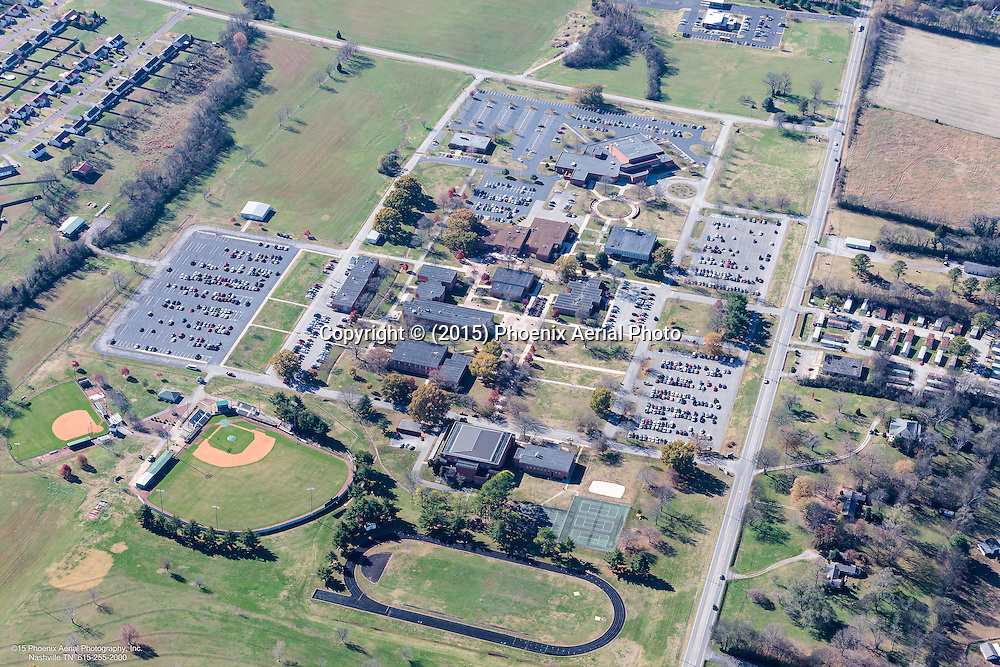 Aerial Photo Of Columbia State Community College In Columbia Tennessee.