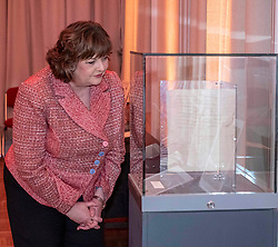 Pictured: Fiona Hyslop<br /><br />Culture Secretary Fiona Hyslop MSP, today visited the two-day Mary, Queen of Scots exhibition marking the anniversary of the queen's execution. <br />Sally Anderson | EEm Date