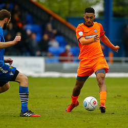 Action during the Vanorama National League South match between Braintree Town FC and Gloucester City FC at the IronmongeryDirect Stadium, Essex on 28 April 2018. Photo by Matt Bristow.