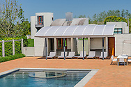 Swimming Pool, Modern Home, 733 Daniels Lane, designed by Charles Gwathmey, Sagaponack, New York
