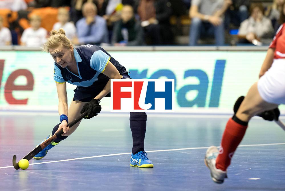 BERLIN - Indoor Hockey World Cup<br /> Quarterfinal 2: Ukraine - Switzerland<br /> foto: VORUSHYLO Yana.<br /> WORLDSPORTPICS COPYRIGHT FRANK UIJLENBROEK
