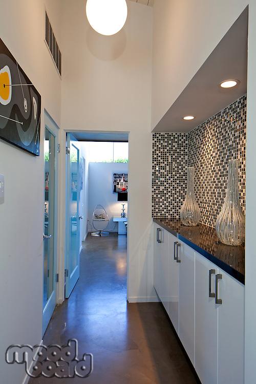 Hallway in luxurious villa