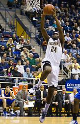 December 29, 2009; Berkeley, CA, USA;  California Golden Bears forward Theo Robertson (24) leaps for a dunk against the UC Santa Barbara Gauchos during the first half at Haas Pavilion.  California defeated UC Santa Barbara 87-66.