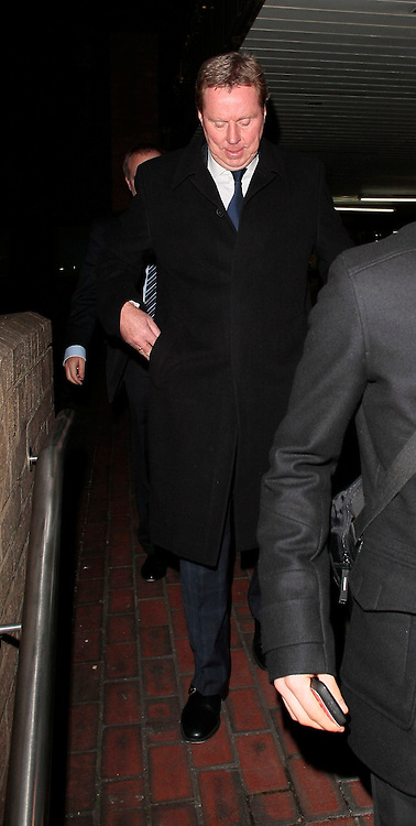 23.JANUARY.2012. LONDON<br /> <br /> TOTTENHAM MANAGER HARRY REDKNAPP LEAVING SOUTHWARK CROWN COURT. REDKNAPP ACCOMPANIED BY HIS SON JAMIE REDKNAPP WAS ACCUSED OF TAX EVASION WITH MILAN MANDARIC.<br /> <br /> BYLINE: EDBIMAGEARCHIVE.COM<br /> <br /> *THIS IMAGE IS STRICTLY FOR UK NEWSPAPERS AND MAGAZINES ONLY*<br /> *FOR WORLD WIDE SALES AND WEB USE PLEASE CONTACT EDBIMAGEARCHIVE - 0208 954 5968*