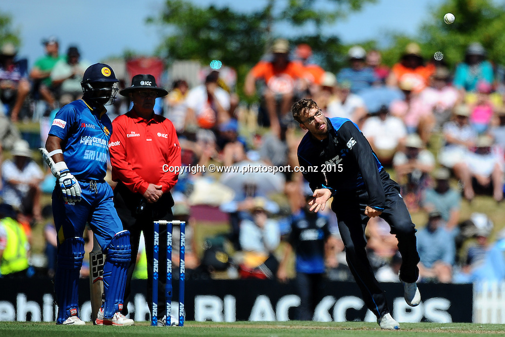 Black Cap player Daniel Vettori during Match 4 of the ANZ One Day International Cricket Series between New Zealand Black Caps and Sri Lanka at Saxton Oval, Nelson, New Zealand. Tuesday 20 January 2015. Copyright Photo: Chris Symes/www.Photosport.co.nz
