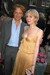 PRINCE VALERIO MASSIMO and MISS ANTONIA HEDLEY-DENT at the Tatler Summer Party in association with Moschino at Home House, 20 Portman Square, London W1 on 29th June 2005.<br />