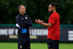 CARDIFF, WALES - Tuesday, September 4, 2018: Wales' manager Ryan Giggs and captain Ashley Williams during a training session at the Vale Resort ahead of the UEFA Nations League Group Stage League B Group 4 match between Wales and Republic of Ireland. (Pic by David Rawcliffe/Propaganda)