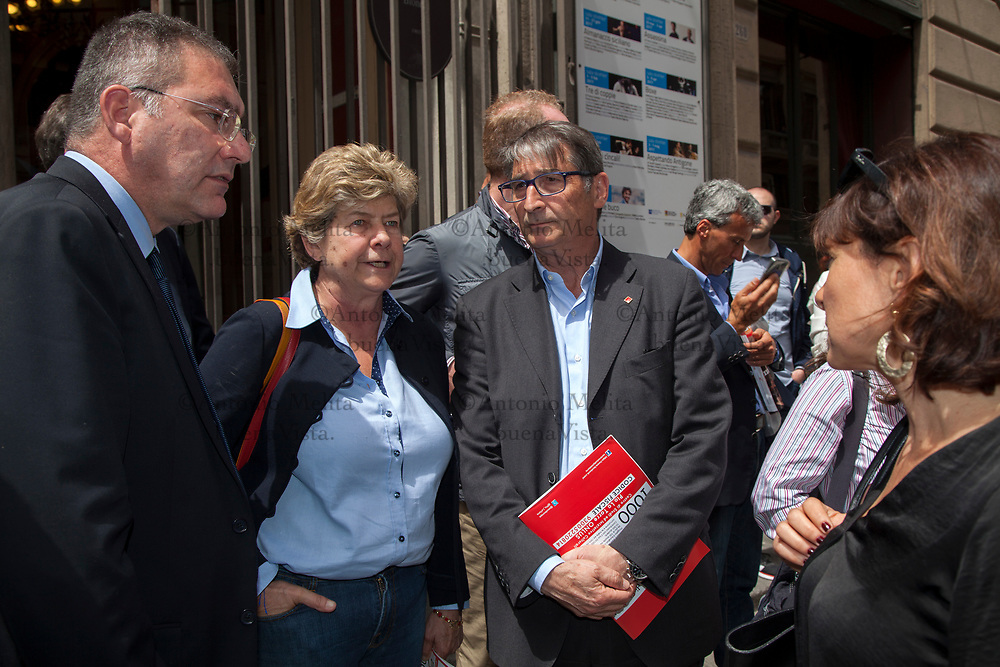 Susanna Camusso, segretario generale CGIL, a Palermo ha ricordato Pio La Torre e Rosario Di Salvo uccisi 35 anni fa' dalla mafia.