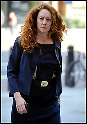 Former News of the World Editor and Former News International chief executive Rebekah Brooks arrives at Westminster Magistrates' Court  to appear in court on phone hacking charges, Monday September 3, 2012 Photo Andrew Parsons/i-Images