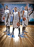 University of Kentucky basketball players Patrick Patterson, left, John Wall, center, and Darius MIller, right, are leading Kentucky back to prominence. Photo by Mark Cornelison | Staff