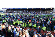 Pitch invasion during the Sky Bet Championship match between Burnley and Queens Park Rangers at Turf Moor, Burnley, England on 2 May 2016. Photo by Simon Davies.