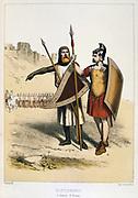 Roman soldier (right) with Roman Gallo-Roman soldier.