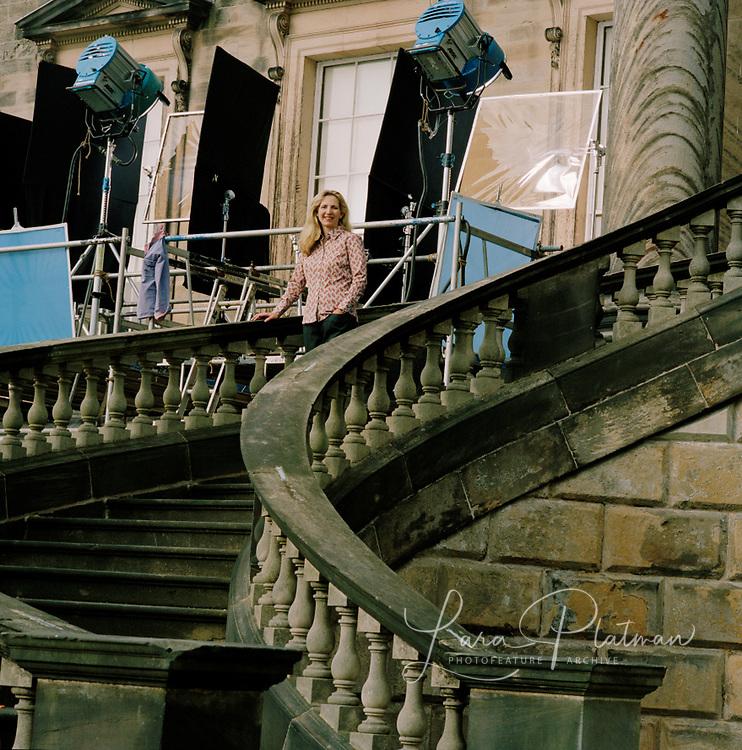 Amanda Foreman the set of Georgiana emphasis on Amanda Foreman for National Trust and Princess films