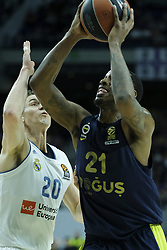 March 2, 2018 - Madrid, Madrid, Spain - NUNNALL  JAMES of Fenerbahce Dogus in action  during the Turkish Airlines Euroleague basketball match between Real Madrid and Fenerbahce Dogus at the Wizink Center in Madrid, Spain on March 2, 2018. Photo: Oscar Gonzalez/NurPhoto  (Credit Image: © Oscar Gonzalez/NurPhoto via ZUMA Press)