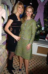 Left to right, LADY EMILY COMPTON and BRINDE COLLINS co-owners of Chippi Hacki at a party to celebrate the opening of children's store Chippi Hacki at 8 Motcomb Street, London, SW1 on 24th November 2004.<br />