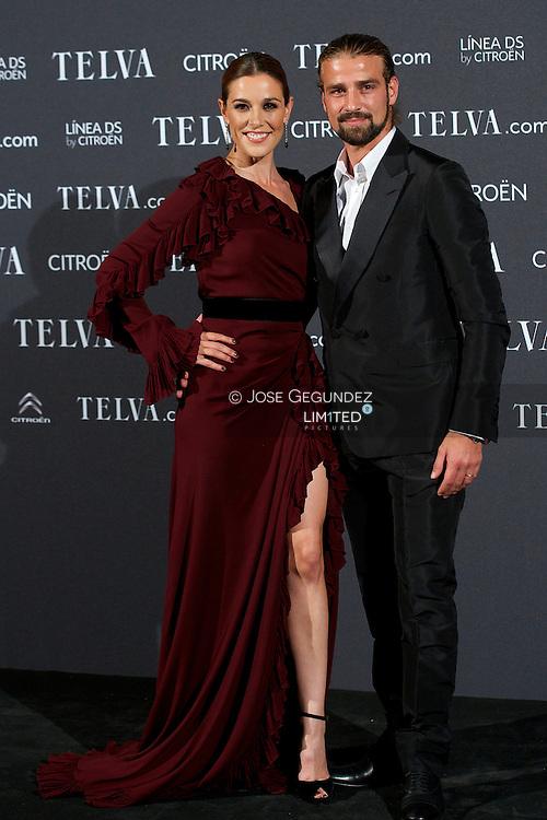 Raquel Sanchez Silva and Mario Biondo attends Telva Awards 2012 at Hotel Palace on November 6, 2012 in Madrid, Spain